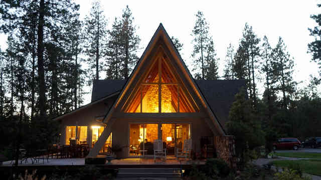 Big famiy A-frame house