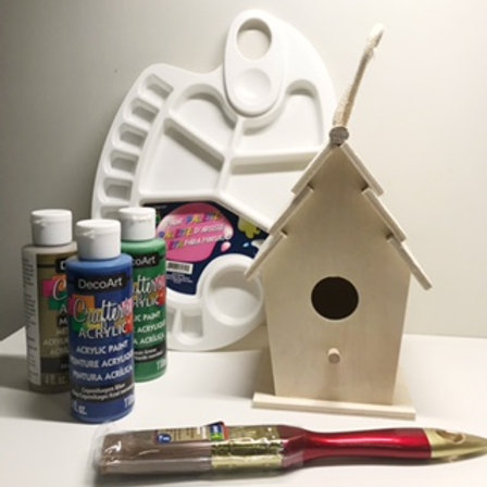 Paint Your Own  - Bird House
