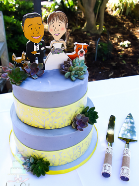 Rustic Backyard Wedding cake