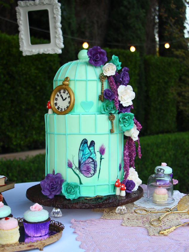 Birdcage Alice Cake