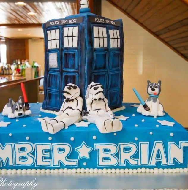 Dr. Who Star Wars Cake