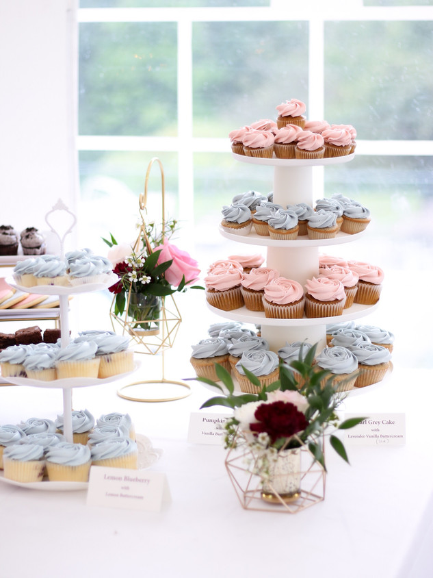 Custom Dessert Bar. Photo Copyright Wildflour Cake Design