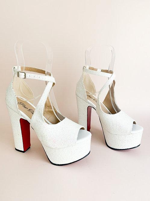 Sandália meia pata Luxury Glitter