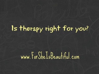 Is Therapy Right for You?
