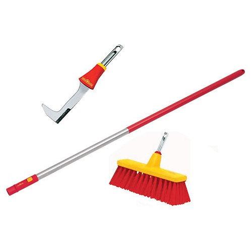 Wolf Garten ZMi15 Handle, Yard Broom, Scraper