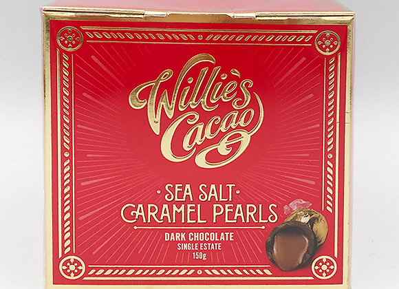 Willies Dark Sea Salt Caramel Pearls