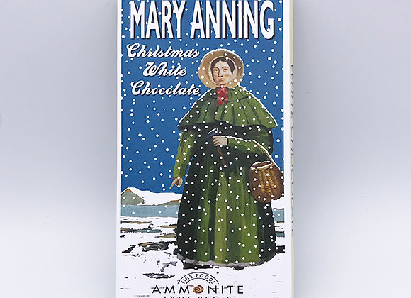 Mary Anning Christmas White Chocolate Bar