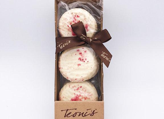 Teoni's White Chocolate & Raspberry Shortbread