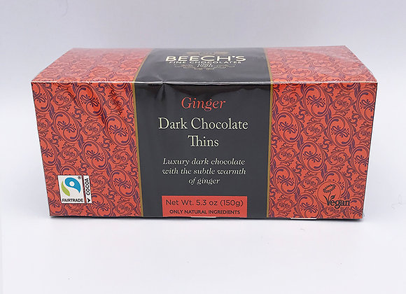 Beech's Dark Chocolate Ginger Thins
