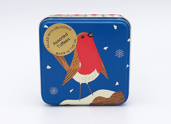 Robin Tin of Assorted Toffees