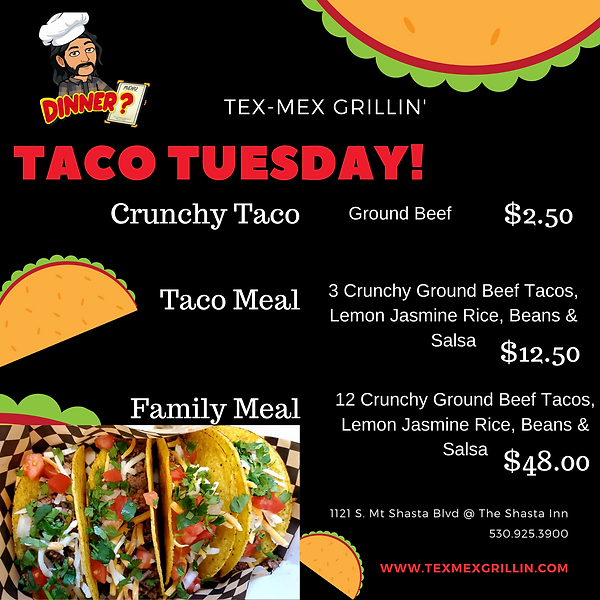 Red and Orange Illustrated Taco Party In