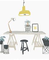 Gemalter Schreibtisch