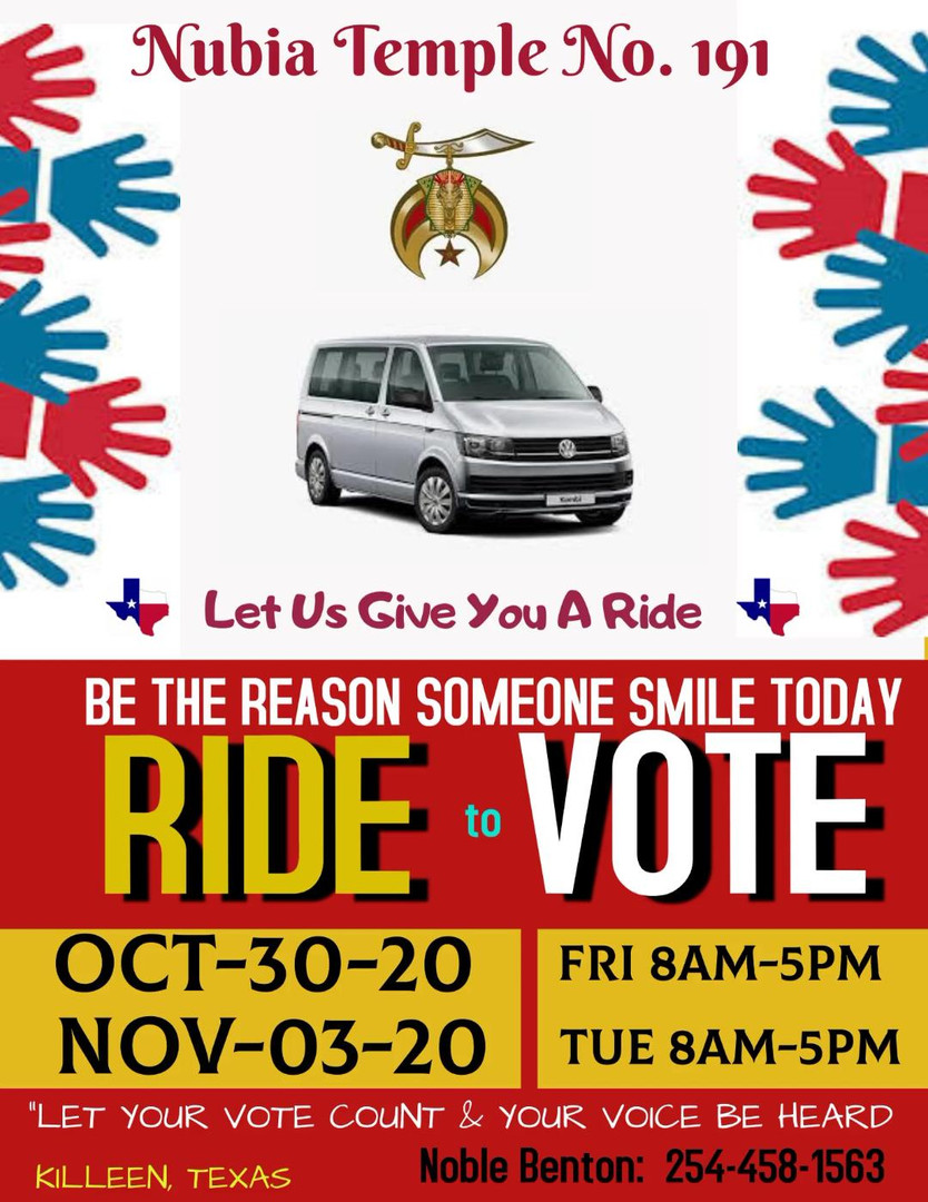 RIDE to VOTE 2020