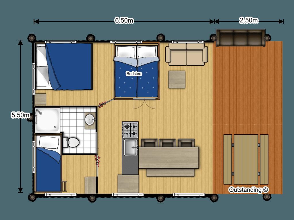 Lodge plattegrond