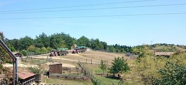 Ferme aux bisons tour en tracteur.JPG