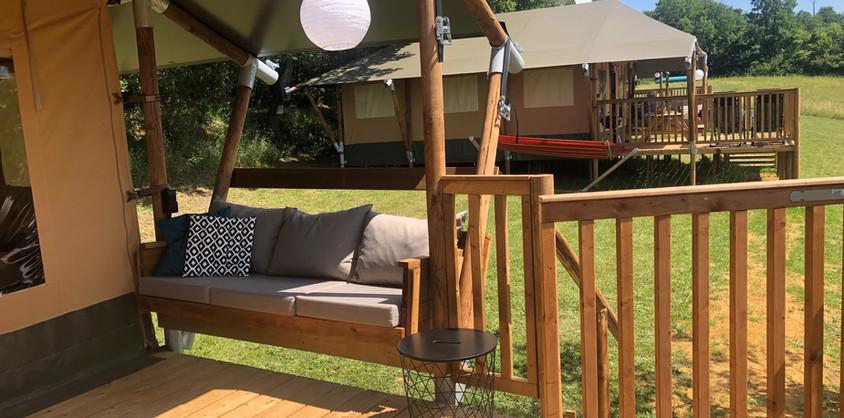 Lounge terrace Glamping Lodge