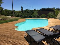 zwembad terras