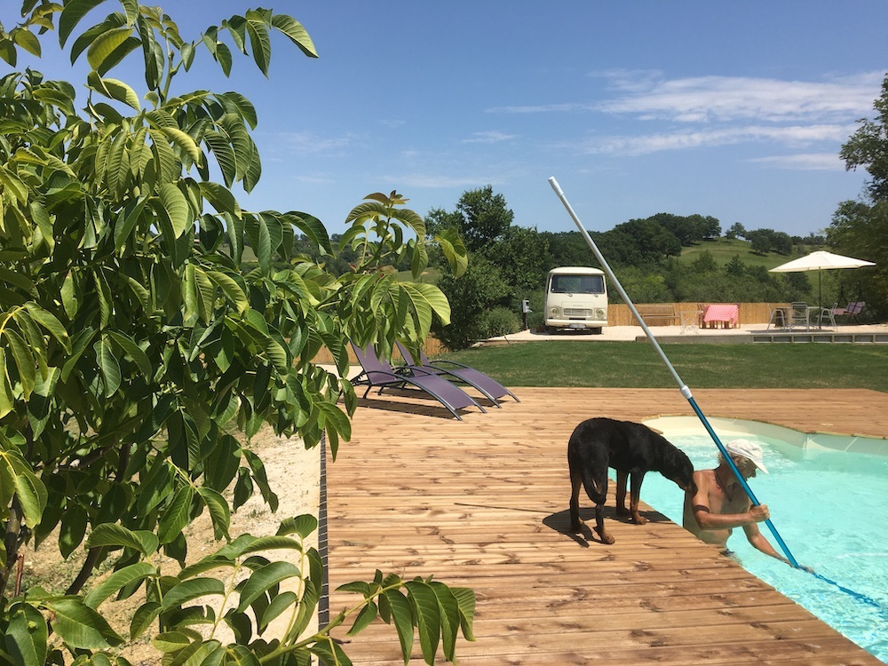 Rendal en Rani piscine