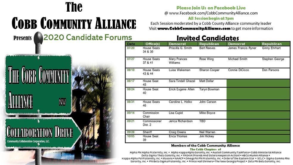 2020CobbCommunityAllianceCandidateForums