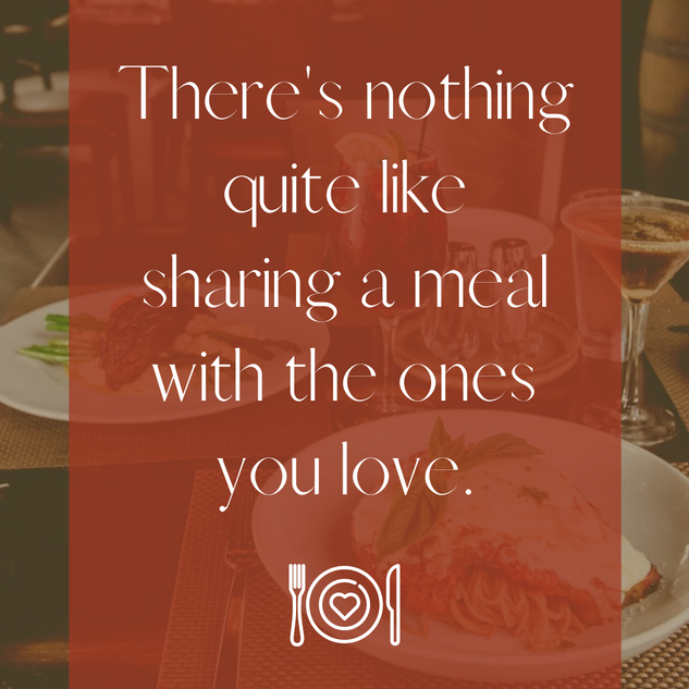 There's nothing quite like sharing a mea