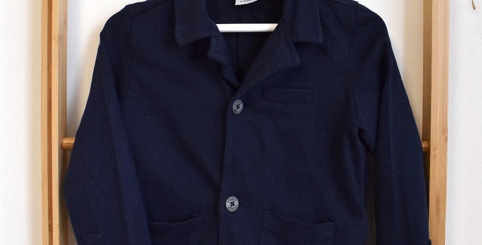 Modré teplákové sako s gombíkmi