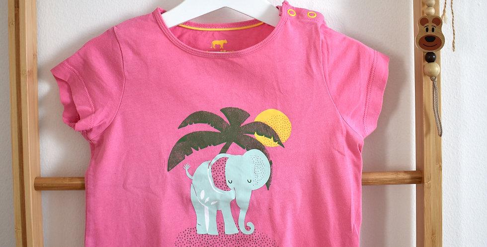 Ružové tričko so sloníkom a s palmou