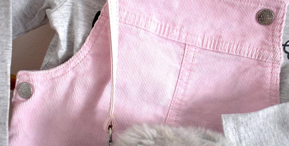 Menčestrová sukňa s trakmi