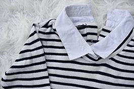 Predĺžená svetro-košeľa