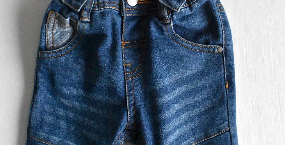 Denim nohavice s trakmi