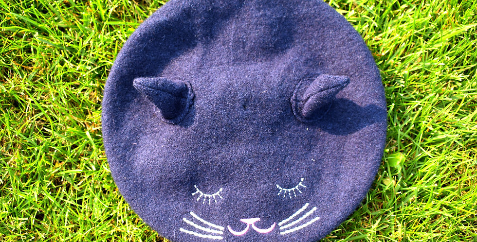 Tmavomodrá čiapka mačička zn. Next