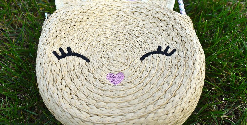 Béžová pletená kabelka