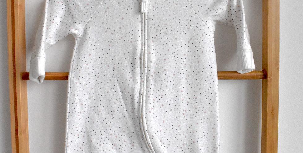 Biele pyžamko na zips