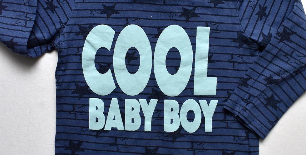 Tričko modré s nápisom Cool Baby Boy