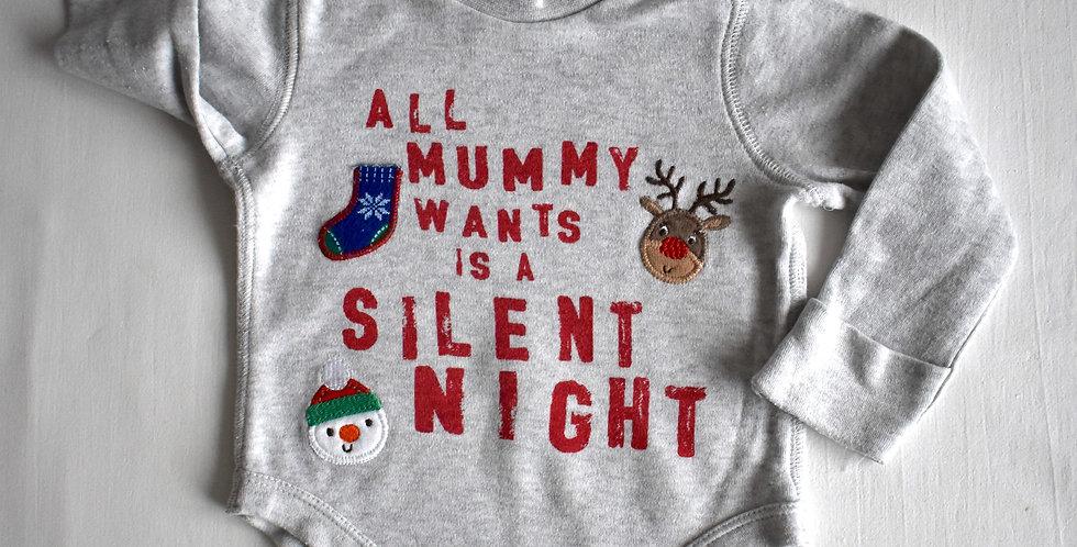 Baby Santa Body s nášivkami