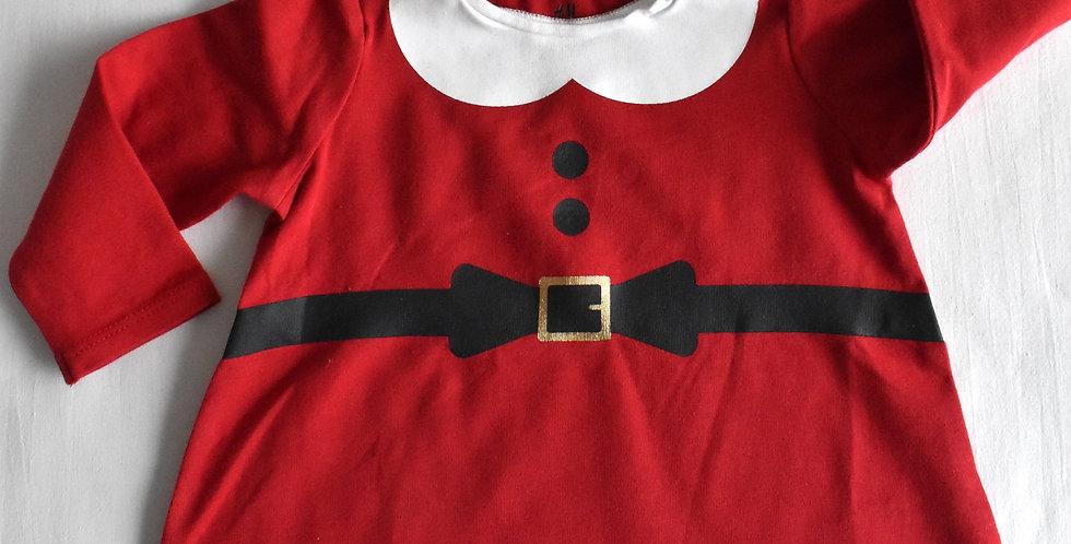 Santove červené šaty