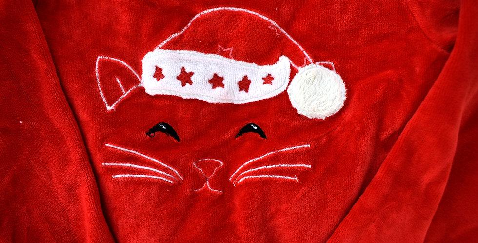 Fluffy tričko s vianočnou mačičkou