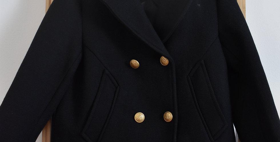 Jesenný kabát ZARA so zlatými kombíkmi