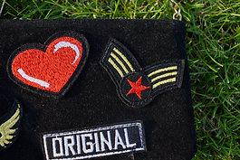 Čierna semišová kabelka original