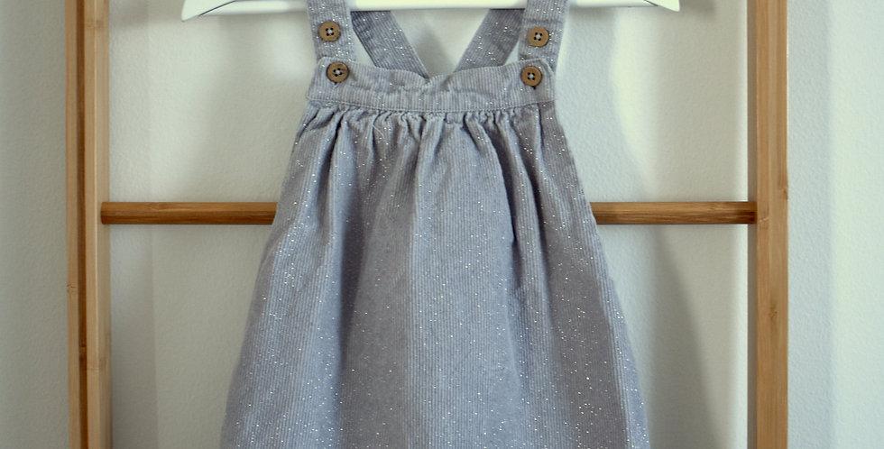 Strieborná šatová sukňa