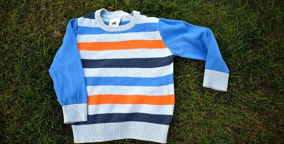 Prúžkovaný farebný sveter