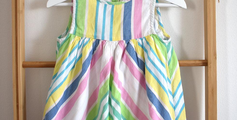 lanové pásikové šaty