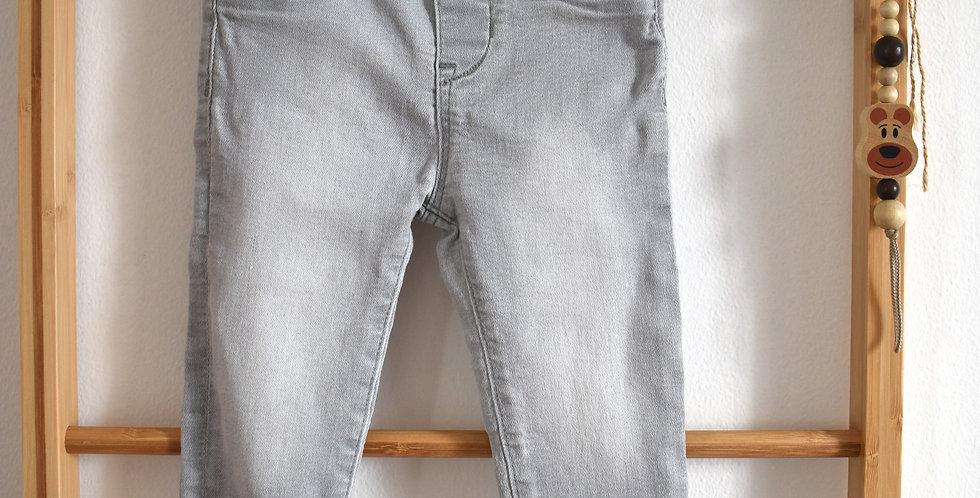 Sivé denim legínové nohavice