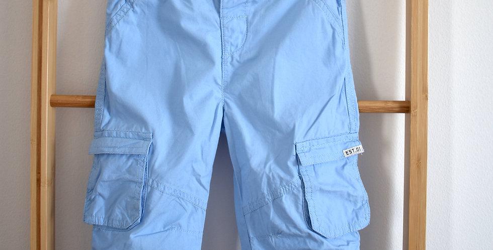 Modré chlapčenské letné nohavice s vreckami