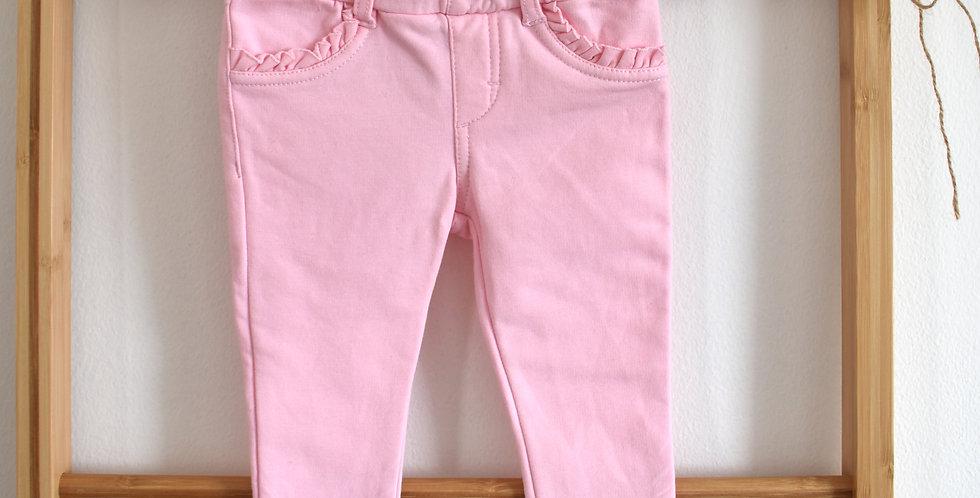 Ružové teplejšie jegginsy