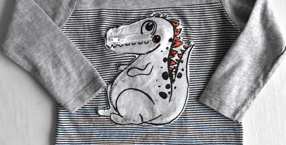 Dino tričko so zipsom