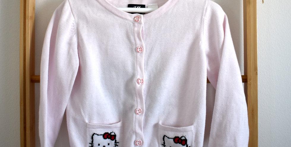 Hello Kitty ružový svetrík s vreckami