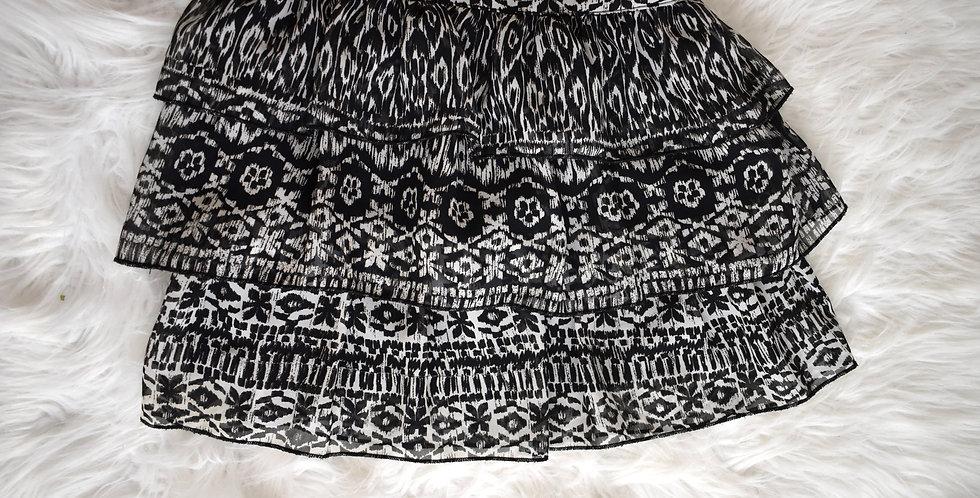 Šifónová sukňa s volánmi