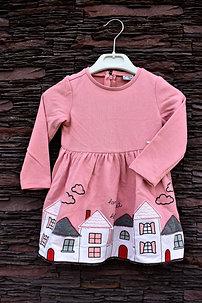 Domčekové ružové šaty Mayoral