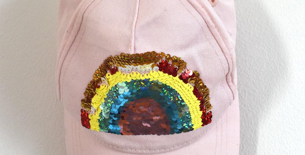Šiltovka Rainbow s flitrami