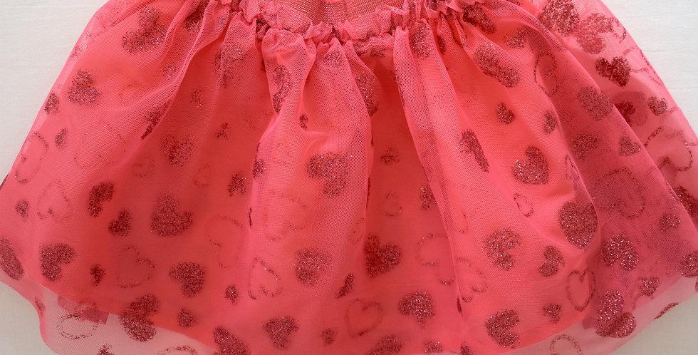 Ružová sukňa s glitrami